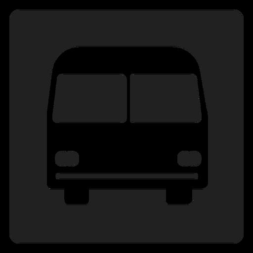 Ícone quadrado simples de ônibus Transparent PNG