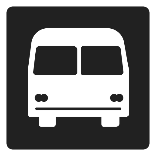 Simple bus square icon Transparent PNG
