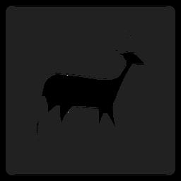 Simple icono de venado cuadrado