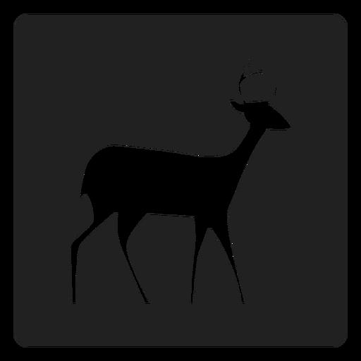 Simple icono de venado cuadrado Transparent PNG