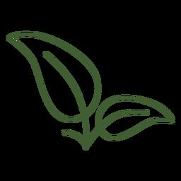 Imagen de icono de hojas simples