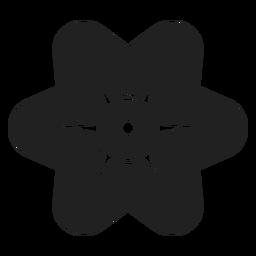 Simple flor de seis pétalos vector