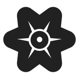 Simple flor de seis pétalos vector