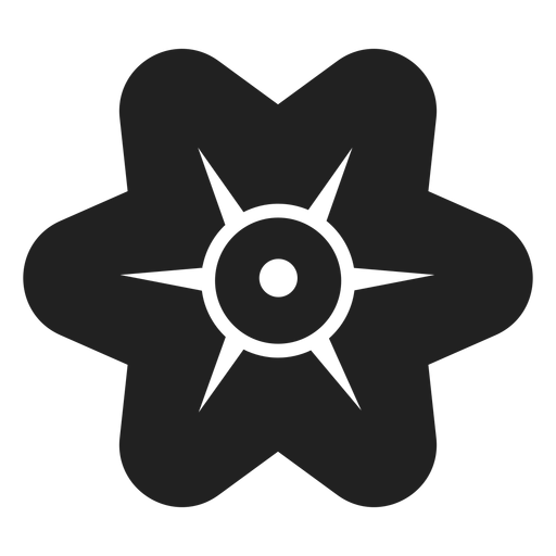Simple six petals flower vector Transparent PNG