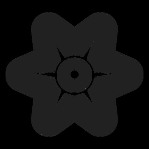 Simple six petals flower vector