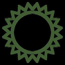 Icono de sol simple