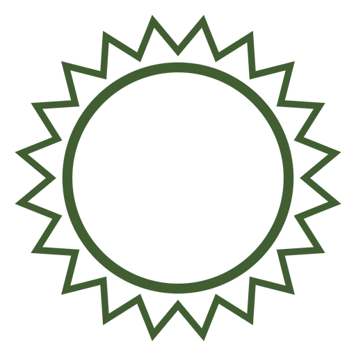 Simple sun icon Transparent PNG