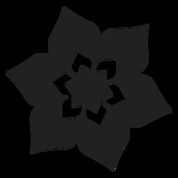 Icono de flor de flor de seis pétalos