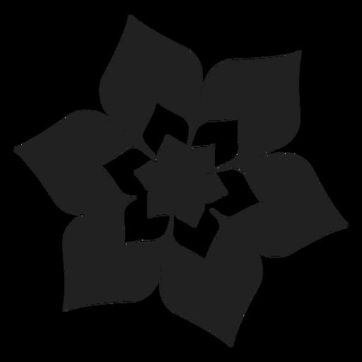 Icono de la flor de seis pétalos Transparent PNG