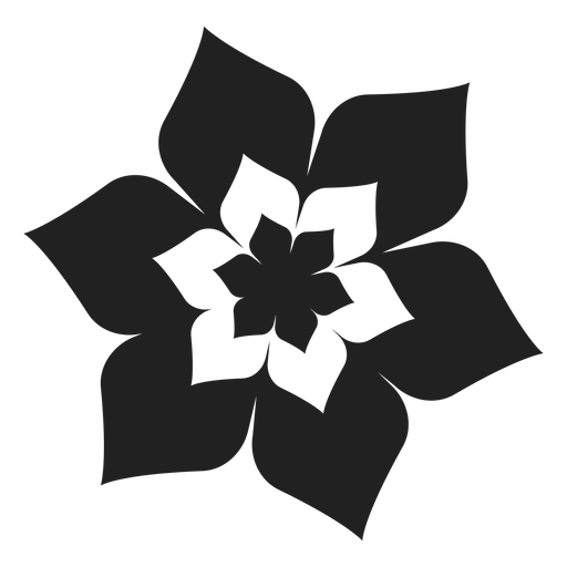 Six petal flower blossom icon Transparent PNG