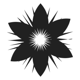 Seis, pétalas, flor, ícone