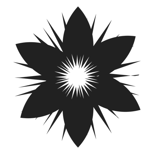 Six petals flower icon Transparent PNG