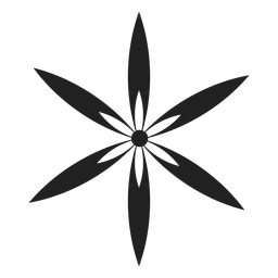 Six thin petal flower icon
