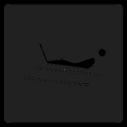 Icono de trineo para montar a caballo.