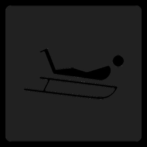 Icono de trineo para montar a caballo. Transparent PNG