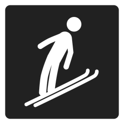 Schnee-Ski-Quadrat-Symbol