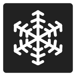 Floco de neve ícone quadrado floco de neve