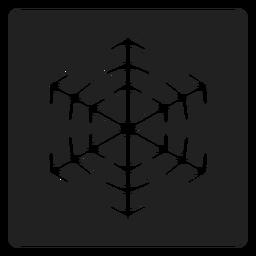 Schneeflocke quadratische Ikone Schneeflocke