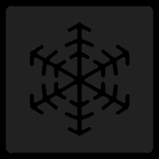 Floco de neve ícone quadrado floco de neve Transparent PNG