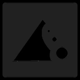 Ícone quadrado de erosão do solo