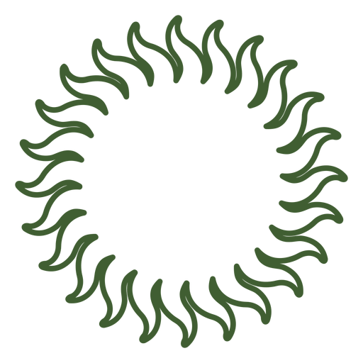 Solar sun icon Transparent PNG