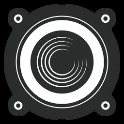 Icono de la vista frontal del altavoz