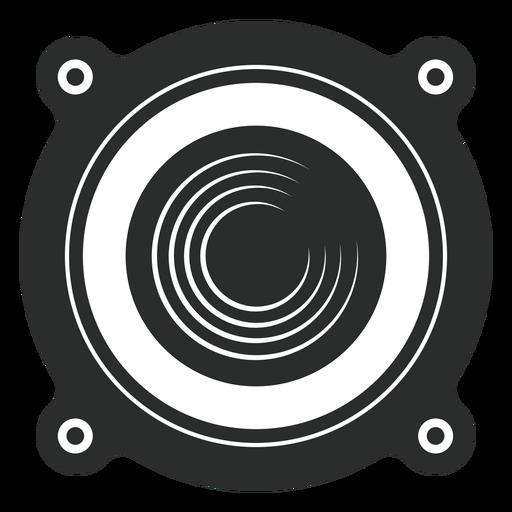 Ícone de vista frontal do alto-falante Transparent PNG