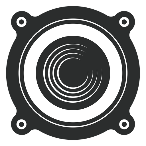 Speaker front view icon