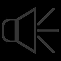 Lautsprecherlinie Symbol