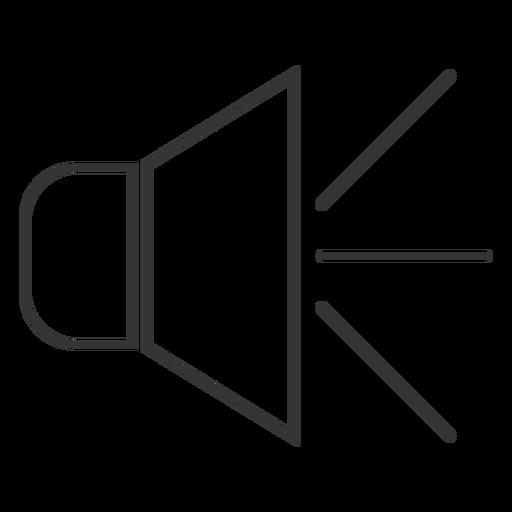 Ícone de estilo de linha de alto-falante Transparent PNG