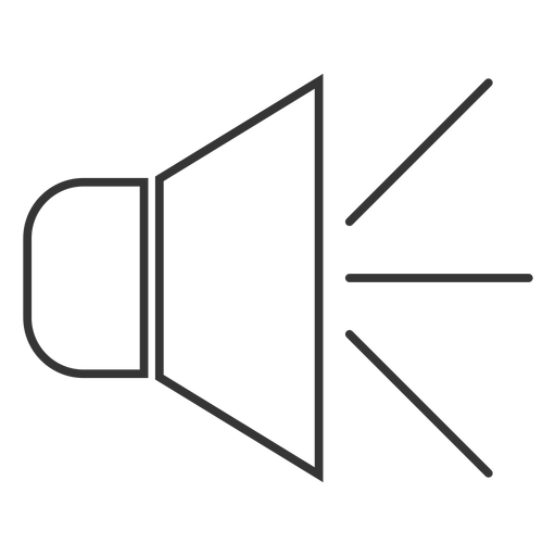 Icono de estilo de línea de altavoz Transparent PNG