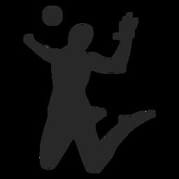 Silhueta de jogador de voleibol de cravação