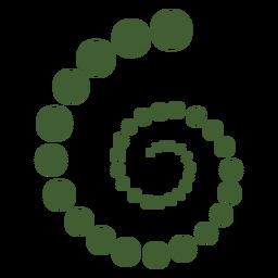 Ícone de moléculas de espiral