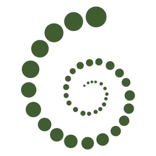 Spiral molecules icon Transparent PNG