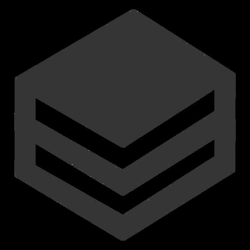 Ícone de livros empilhados Transparent PNG
