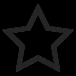 Icono de estrella linda