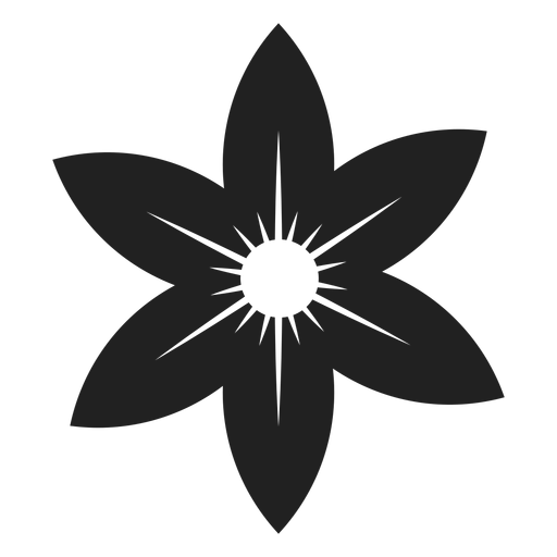 Star flower icon Transparent PNG