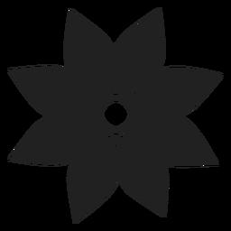 Estrela em forma de flor ícone
