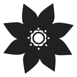 Sternförmige Blume Symbol