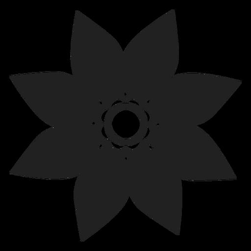 Estrela em forma de flor ícone Transparent PNG