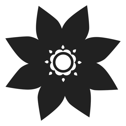 Star shaped flower icon Transparent PNG