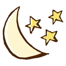 Stars and moon icon illustration