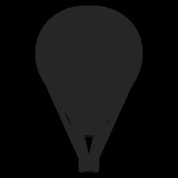 Silueta de globo aerostático a rayas.