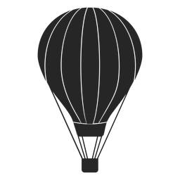 Striped hot air balloon silhouette