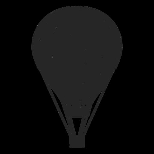 Silueta de globo aerostático a rayas. Transparent PNG