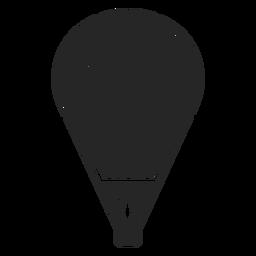Silhueta de balão de ar quente de listras