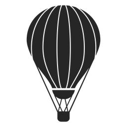 Stripes hot air balloon silhouette