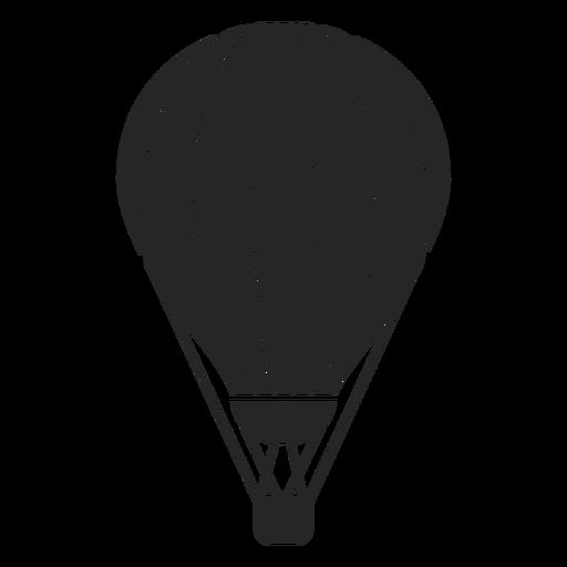 Silhueta de balão de ar quente de listras Transparent PNG