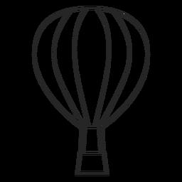 Icono de globo de aire de trazo