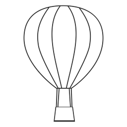 Stroke air balloon icon